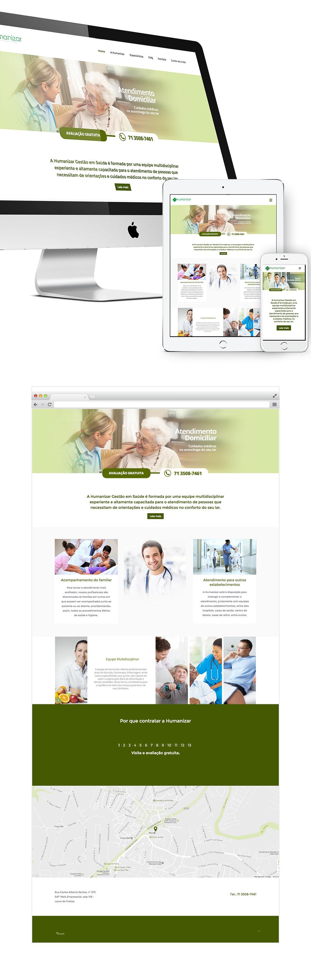 Site Humanizar Gestão em Saúde