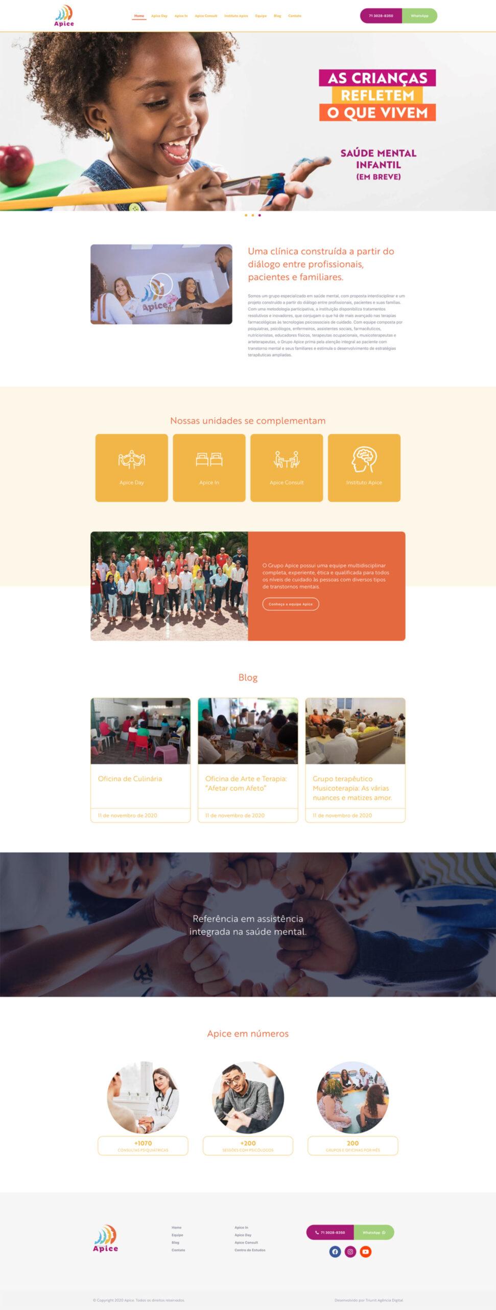 Layout Site Apice